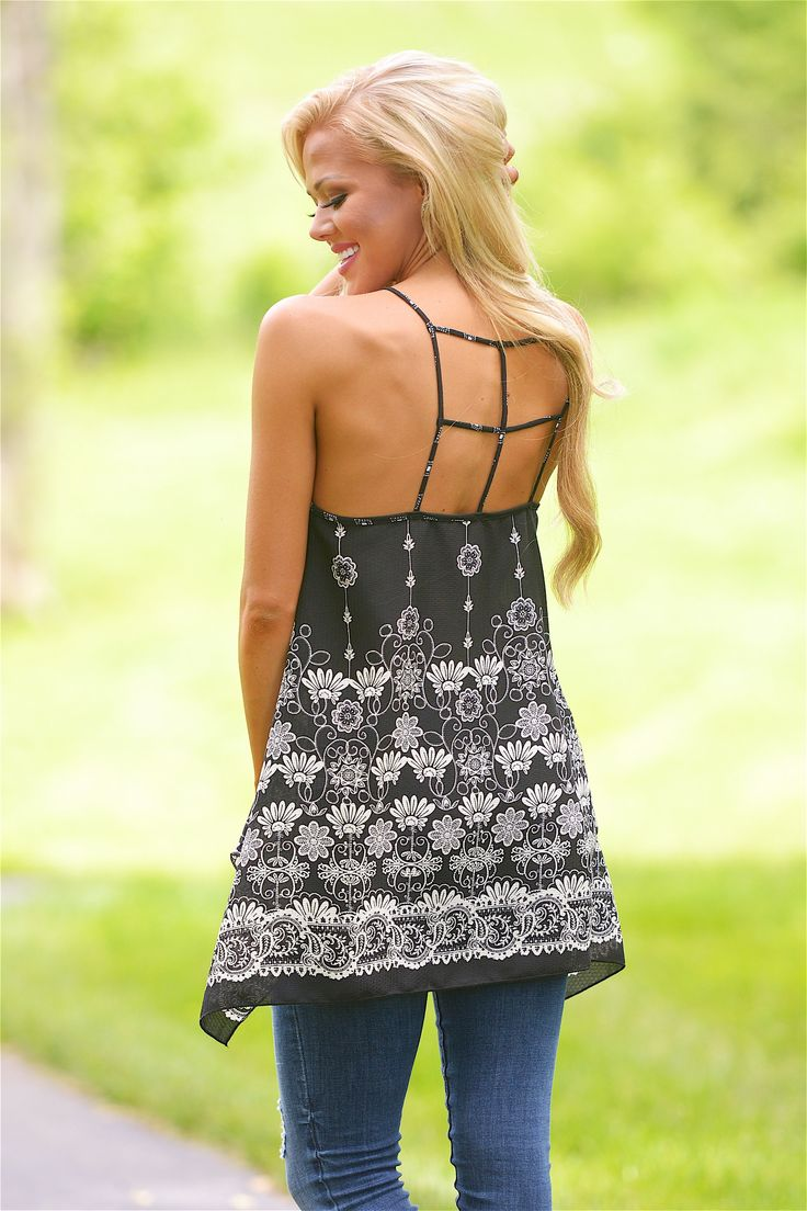 Just One Look Floral Tank
