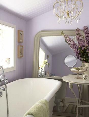 Very light purple for a calming bathroom