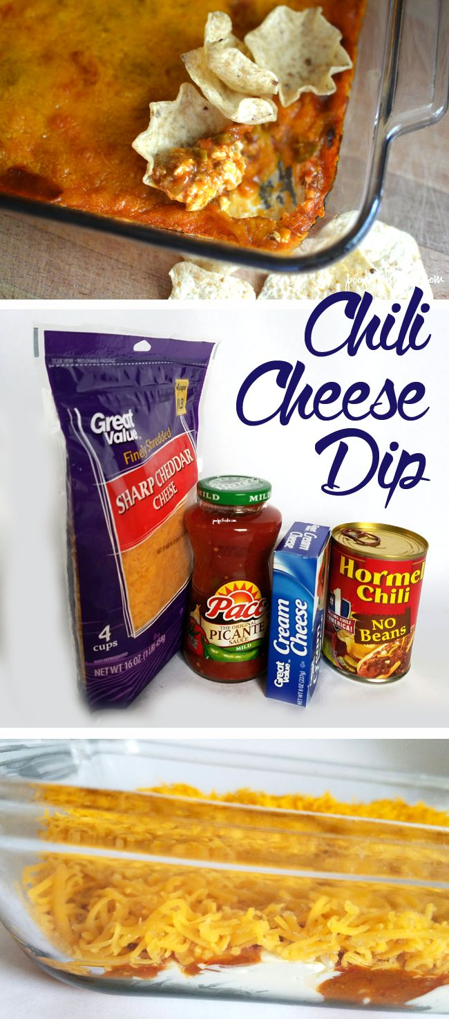 Creamy chili cheese dip appetizer recipe.