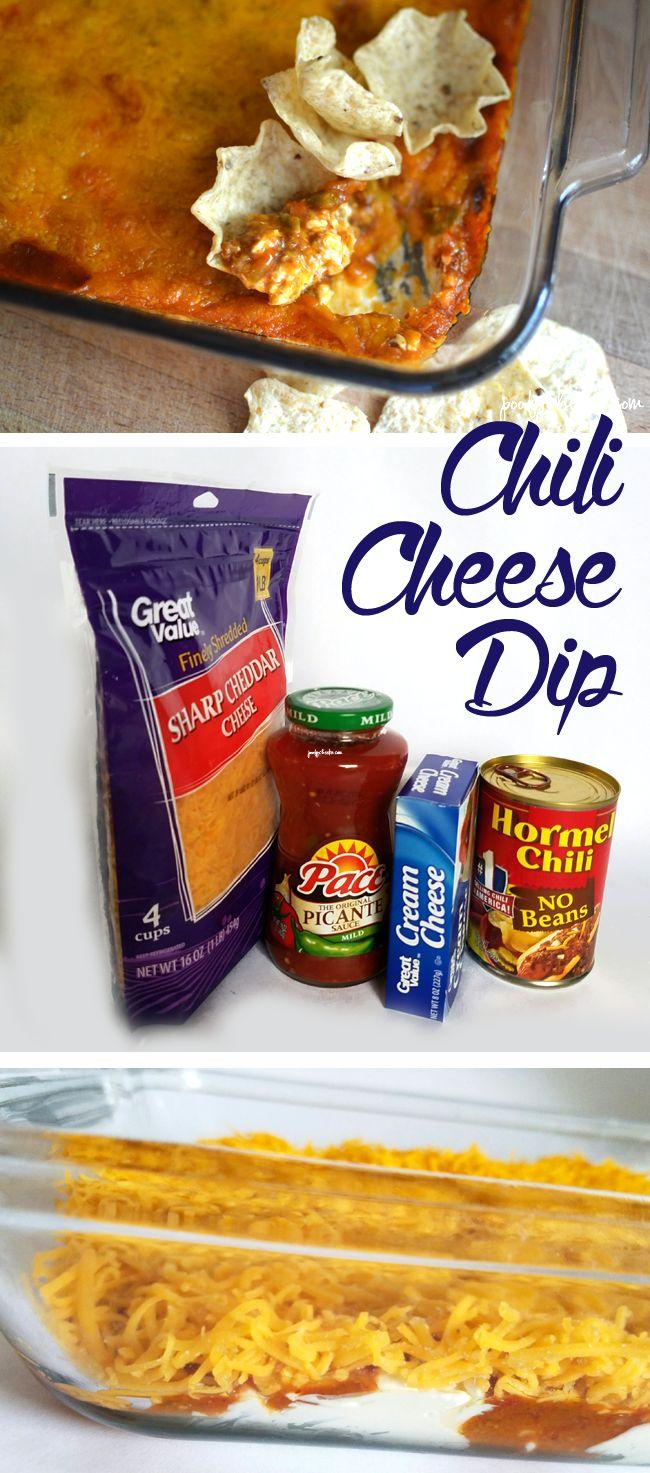 Creamy chili cheese dip appetizer recipe.