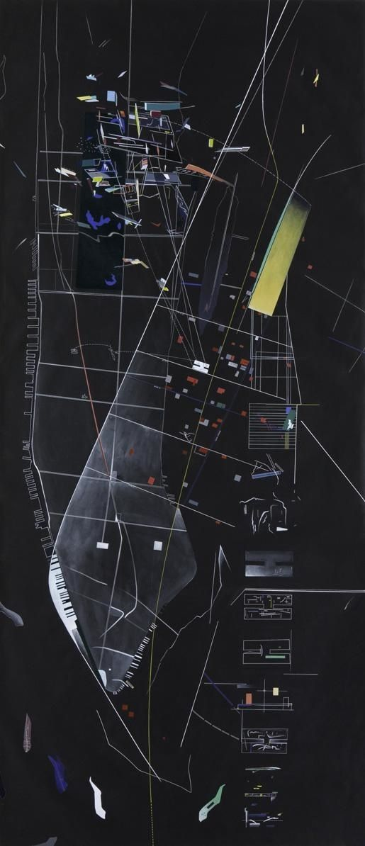 Zaha Hadid / New York, Manhattan : A New Calligraphy of Plan.  ns: simply no drawing like Zaha Hadid's drawing. She Rocks.