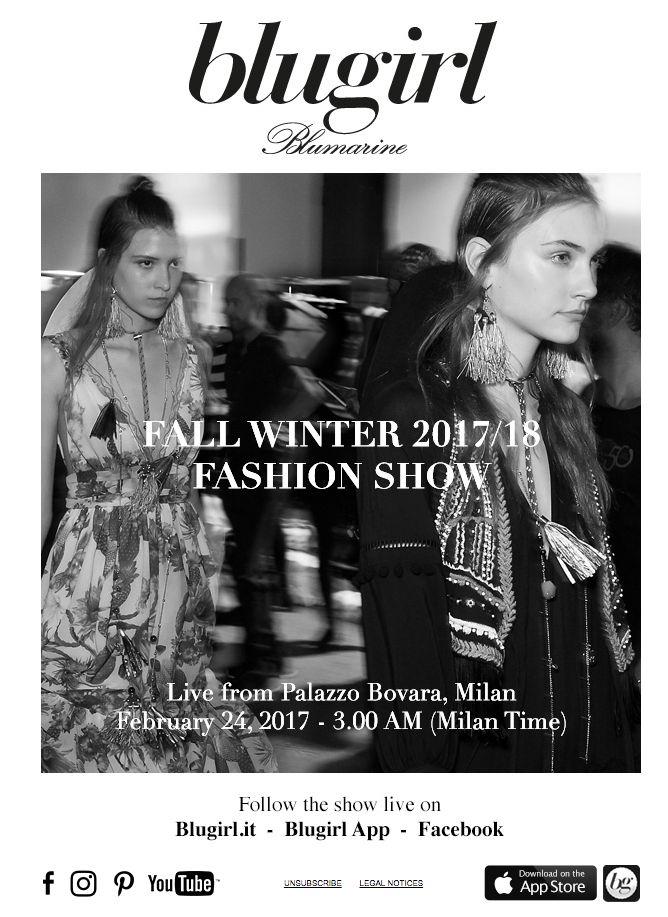 Blugirl Fall Winter 2017/2018 Fashion Show Live #mfw
