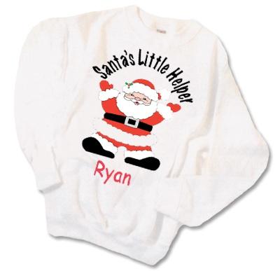 Personalized+Santa%27s+Little+Helper+Sweatshirt+-+%23Christmas+%23ideas