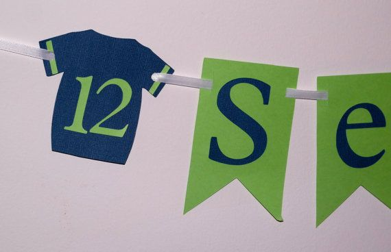 Seahawks Party Banner, 12th Man Banner, Football Party Banner