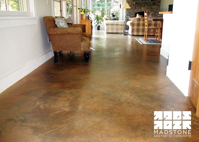 Custom Stained Concrete Floors : Concrete floors acid stained floor with custom