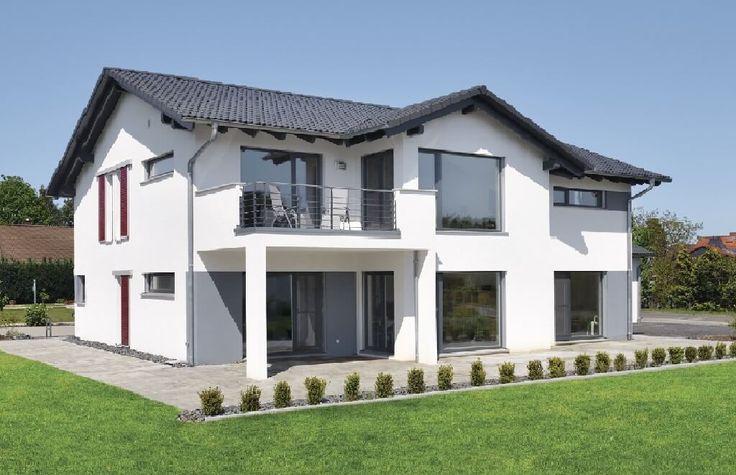 Hauskonzept – Wohnen und Arbeiten - WeberHaus - http://www.hausbaudirekt.de/haus/hauskonzept-wohnen-und-arbeiten/ - Fertighaus als Doppelhaus Einfamilienhaus Modernes Haus Stadthaus mit Satteldach