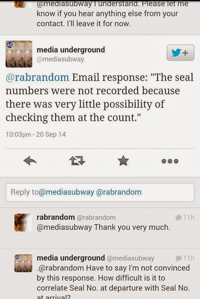Official Excuse Why Seal Numbers Were Not Recorded! #udiNOW