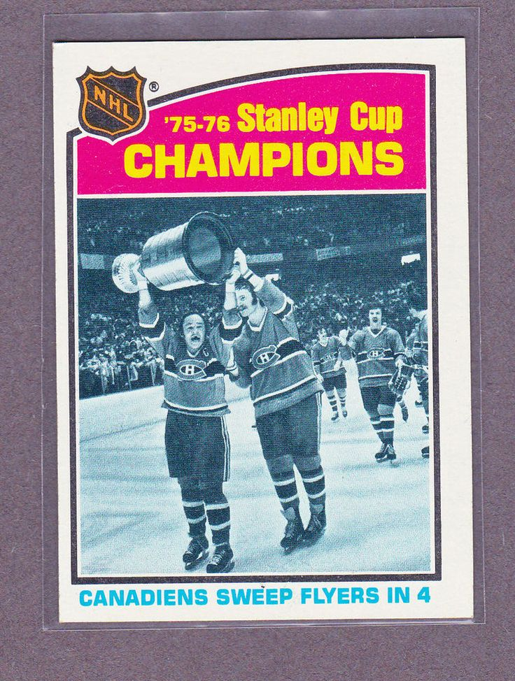 1976 77 TOPPS MONTREAL CANADIENS 75 76 STANLEY CUP CHAMPIONS COURNOYER ROBINSON