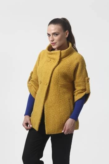 This Slim Wool Double Breasted Short Mustard Trench Coat from Yell is a must-have winter wardrobe.