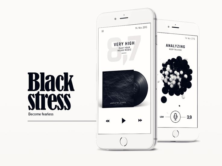 Black Stress App playlist and data analyzing by Igor Ivankovic