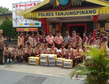 Kasat Binmas Polres Tanjungpinang Pimpin Giat Pramuka Saka Bhayangkara