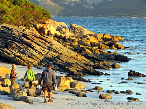 Love this one of the boys off fishing for dinner at Two Peoples Bay near Many Peaks Western Australia.