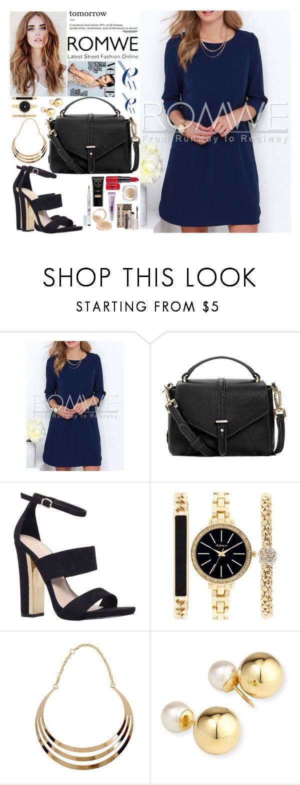 """Romwe, latest street fashion online <3"" by vicky1318 ❤ liked on Polyvore featuring Tory Burch, Carvela, Style & Co. and Yoko London"