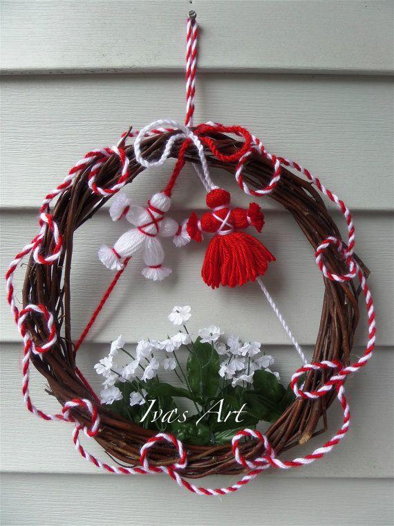 "Wreath ""Baba Marta"", Martenitsa-Wreath, Martenitsa (Baba Marta) Door Decoration, Spring Spirit"