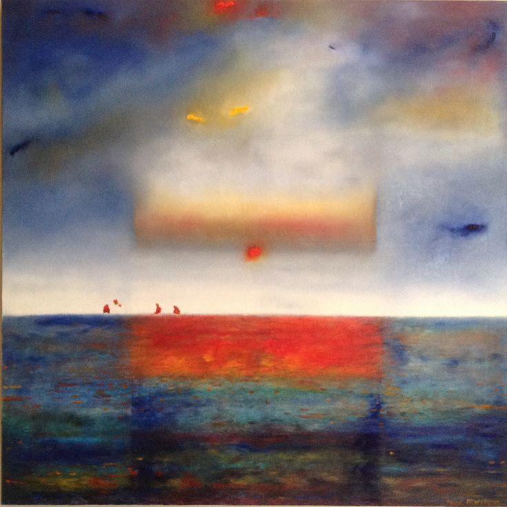 "Patrick Michel.     "" Deepwater Horizon"" Oil on canvas.                                           40 x40.                                          2010"