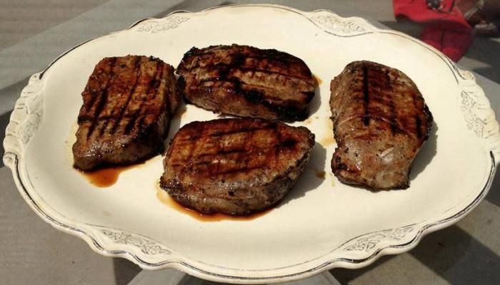 Cider-Grilled Pork Steaks | The Splendid Table