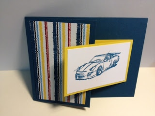Need for Speed Fun Fold Stampin' Up! Rubber Stamping Masculine Card