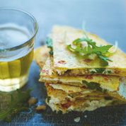Lorraine Pascale's goat's cheese & honey quesadillas: Recipes: Food