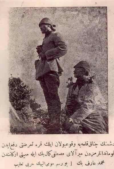 Çanakkale'de vukuu bulan ilk düşman harekatını püskürten komutanlardan Miralay Mustafa Kemal Bey  #CanakkaleGecilmez