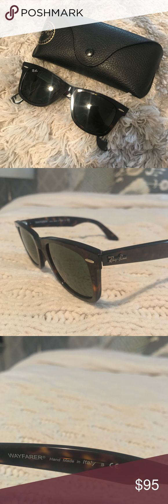 Ray-Ban Wayfarer Ray-Ban tortoise shell Wayfarer sunnies. In perfect condition. Only worn a few times. Ray-Ban Accessories Sunglasses