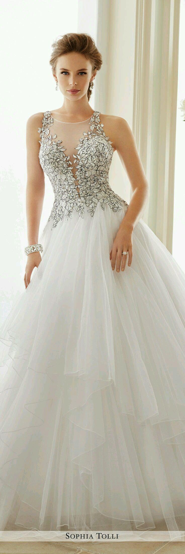 Mejores 353 imágenes de vestidos de novia hermosos en Pinterest ...