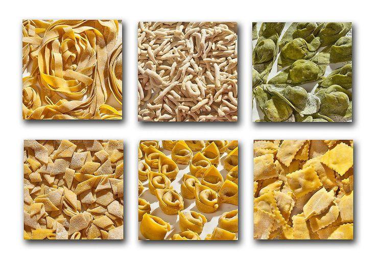 Quadri di pasta fresca fatta dalla signora Alba