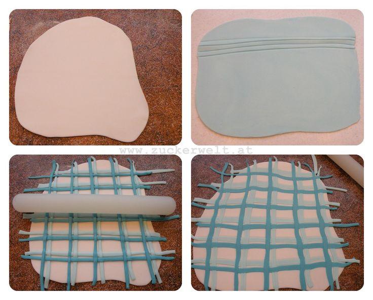 step by step baby quilt in sugarpaste
