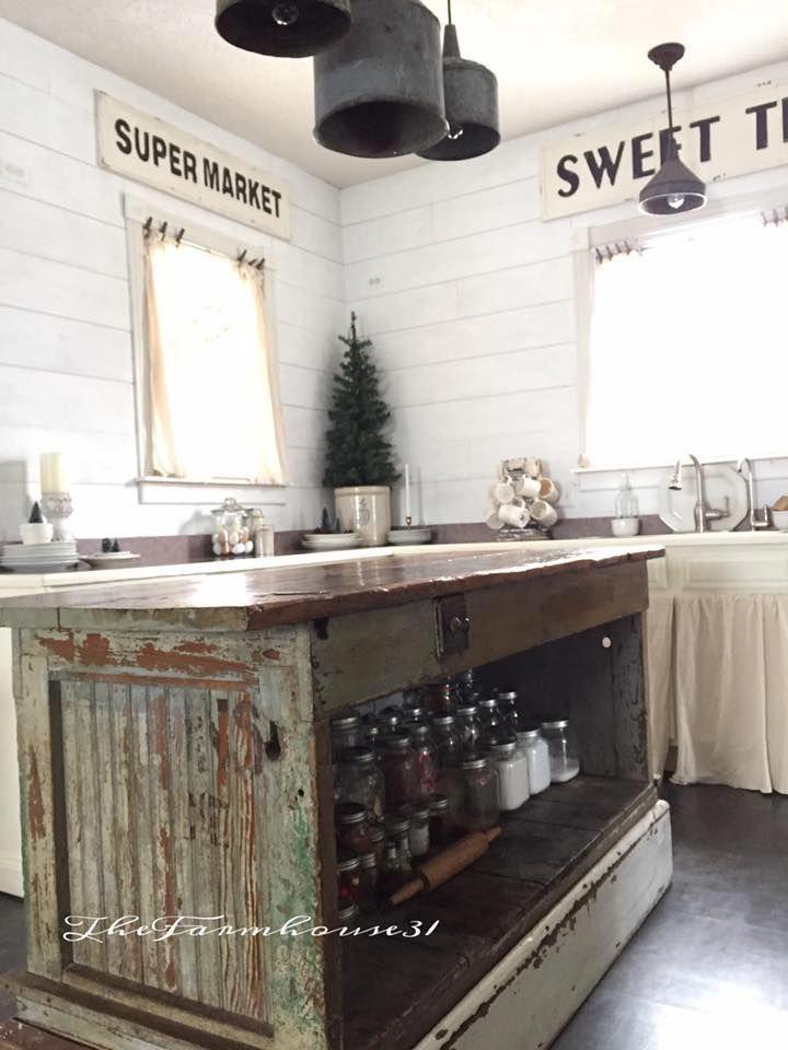 Diy Antique Kitchen Rustic Kitchen Cabinets Farmhouse Kitchen Decor Farmhouse Style Kitchen
