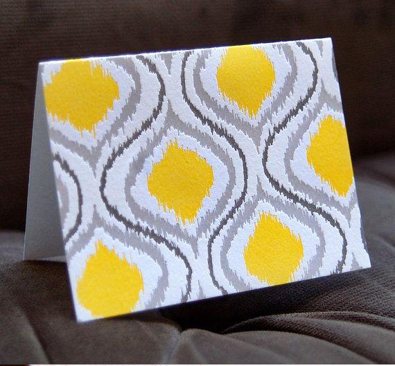 Ikat Letterpress Card single by wildinkpress on Etsy, $4.50Wild Ink, Letterpresses Cards, Pretty Cards, Ikat Letterpresses, Greeting Cards, Letterpresses Notecards, Note Cards, Pattern Cards, Ink Press