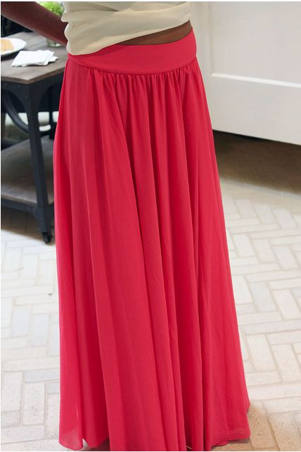 Tutorial for a silk chiffon maxi skirt.. Sewing machine is en route