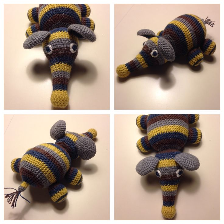 Look at those stripes! A pretty boy elephant 👶🏼💙🐘 - Made by Mikie hjelm