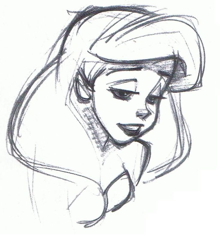Walt disney sketch of princess ariel from the little mermaid hd wallpaper and background photos of walt disney sketches princess ariel for fans of walt