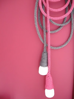 Knitted light cables! perfect for a dorable little babies room.....
