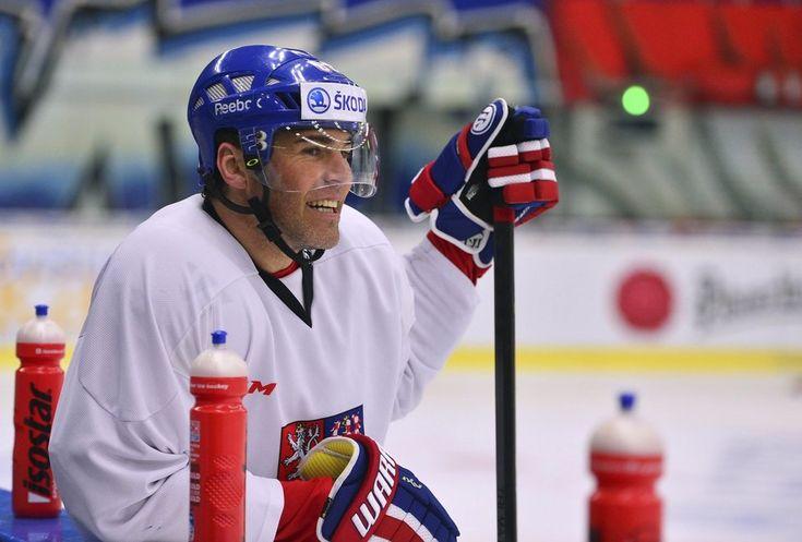 Tradiční obrázek: Jaromír Jágr s úsměvem od ucha k uchu