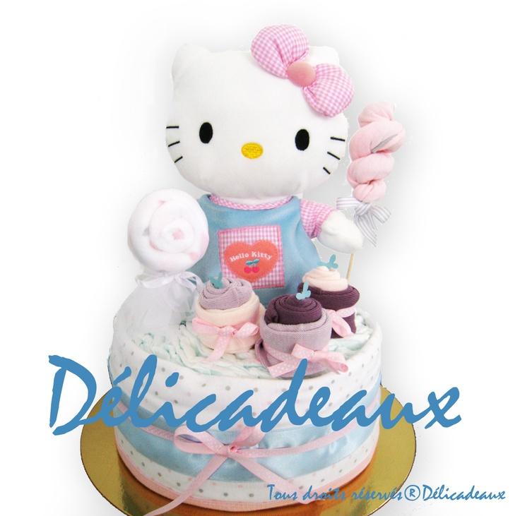 """Gâteaux de couches """"Hello kitty gourmandises"""" Choisi coup de coeur par FAMILI.FR"""