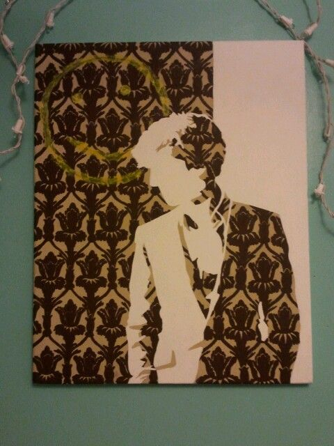 My finished Sherlock painting for my room.