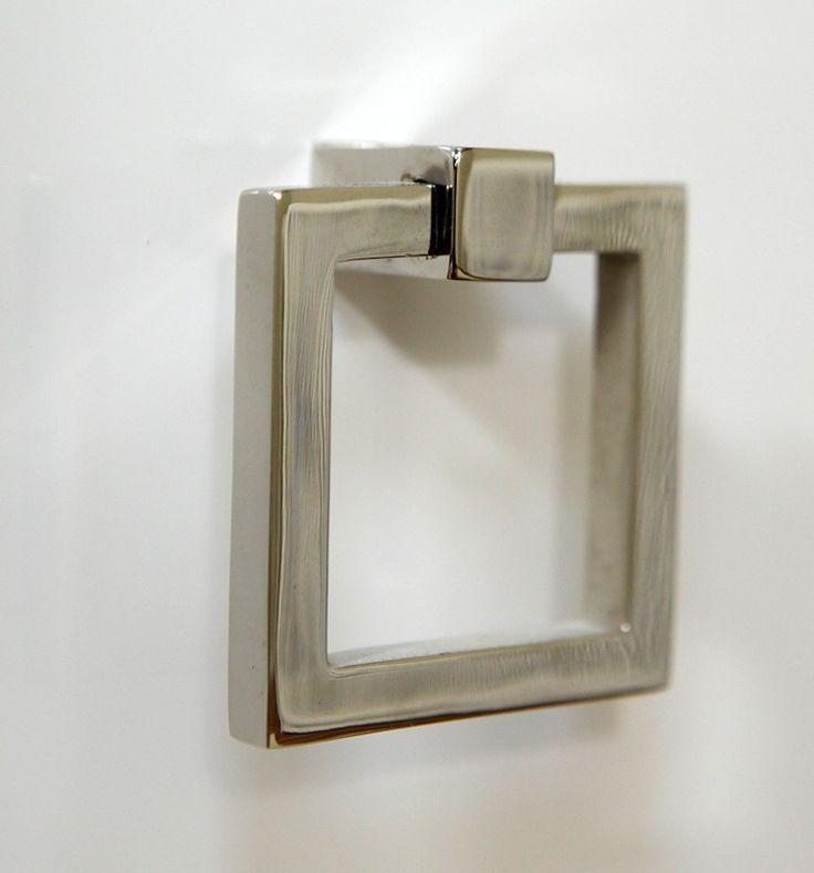 Decor Cabinets Hardware: Ring Pull Square - LA Chrome