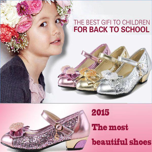 Cheap Nuevo 2015 niños sandalias de la princesa zapatos de tacones altos zapatos de vestido de partido para las niñas zapatos de baile envío gratuito, Compro Calidad Sandalias directamente de los surtidores de China: = = Mmcommco
