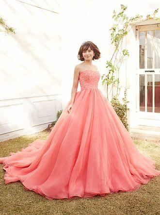 ウエディングドレスショップ シンデレラ キャンディーピンクのカラードレス SS9590CP