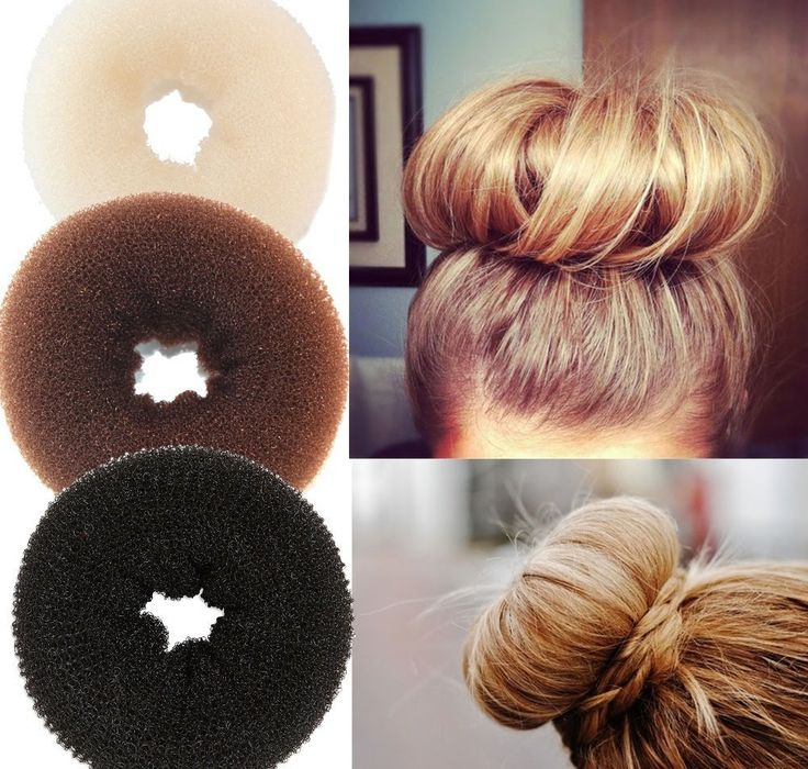 How to use a hair Bun maker - How to use a bun donut to create an updo. Easy, video.