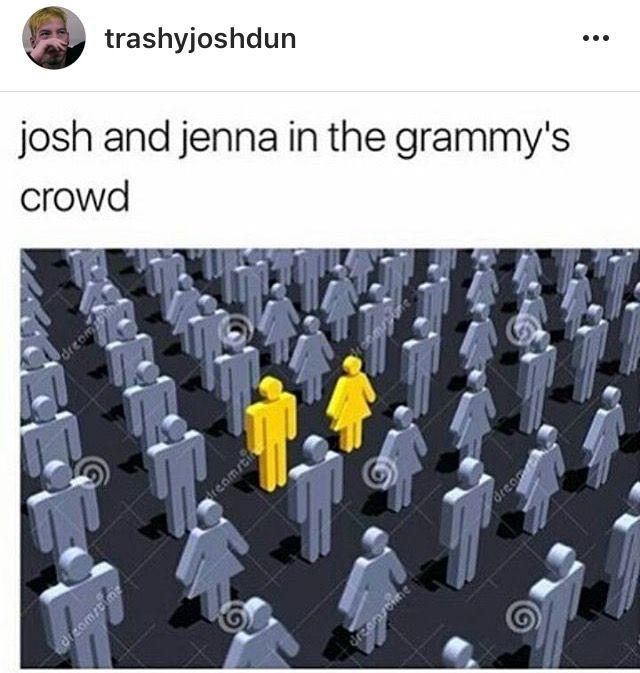 100% correct representation of Jenna and josh  at the Grammys