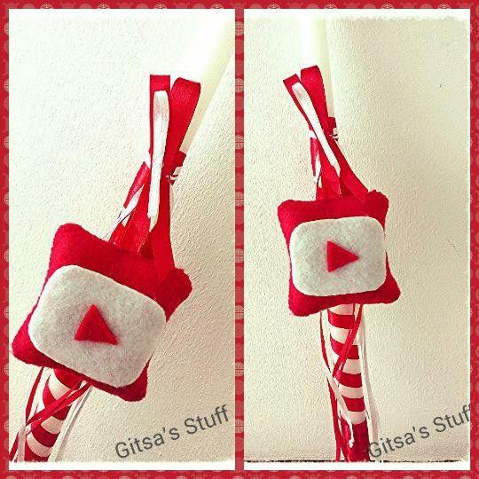 Easter Candle.. Handmade.. Youtube.. Felt..