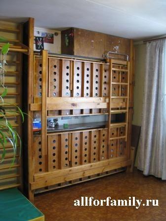 handmade folded bunk bed
