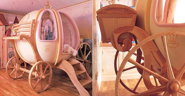 Die legendäre Kürbis-Kutsche von Cinderella gibt es auch als Bett zu kaufen. Allerdings nur für diejenigen, die für ihre Kleinstenzuviel Geld über haben. Der ganze Spaß kostet nämlich $47.000.Sieht aber trotzdem sehr stylisch und gemütlich aus.    (v