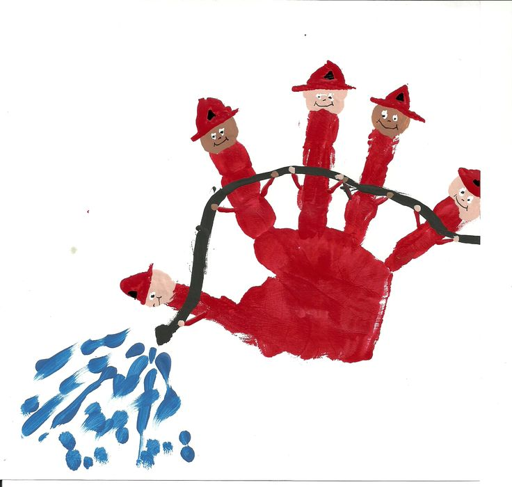 Fire fighters hand print...how adorable is this?!