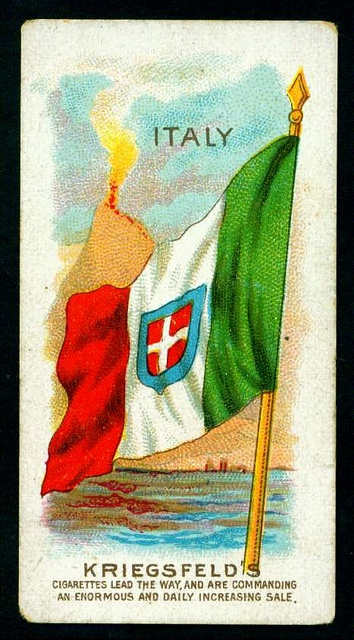 Cigarette Card - Flag of Italy