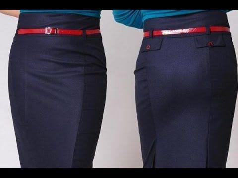 Построение выкройки прямой юбки. Метод Любакс - YouTube