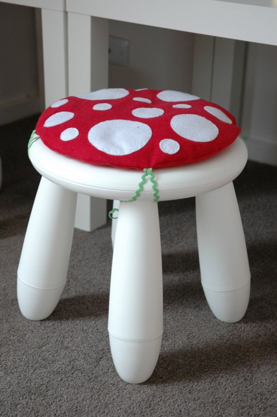 toadstool cushion red children kids cushion for ikea. Black Bedroom Furniture Sets. Home Design Ideas