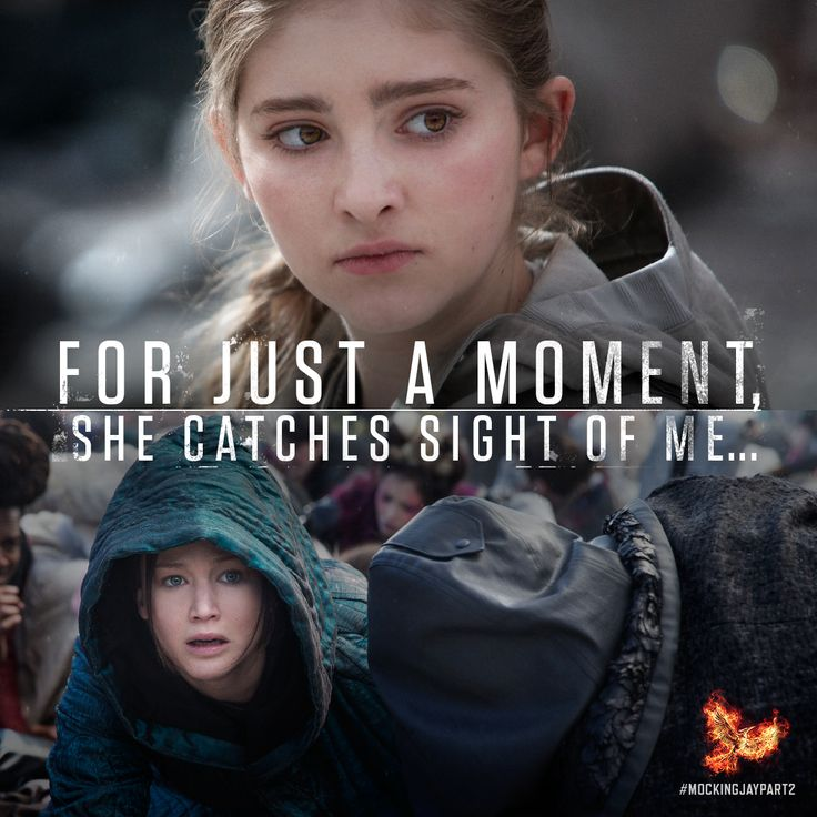 The youngest Everdeen never ceases to care for others. #MockingjayPart2