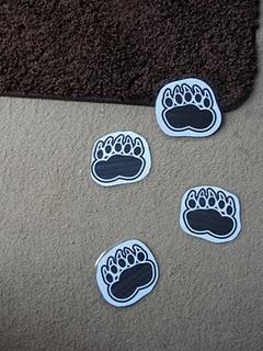 Opening thema: bij het binnenkomen in de klas, staan er pootafdrukken op onze vloer. Van wie zijn deze?